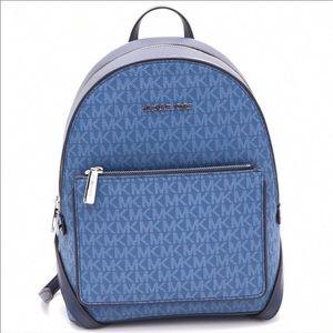 Michael Kors Medium Backpack Blue Signature